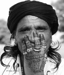 Rajasthani Dancer Portrait (vjcool231) Tags: street vijay blackandwhite india art photography dance fort traditional tribal jewellery ornaments form bnw rajasthan decorated mehrangarh jodpur bihani ribgs kaalbhairiya