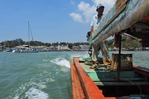 Leaving Kawthaung, Myanmar