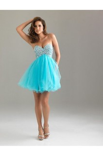 Brilliant Sweetheart Short Blue Party Dress
