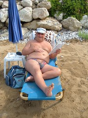 Arillas central beach sunbathing (pj's memories) Tags: beach corfu speedos bulge arillas tanthru kiniki