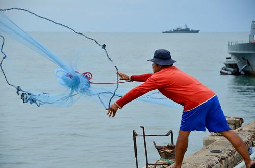 Net Fishing In Hua Hin