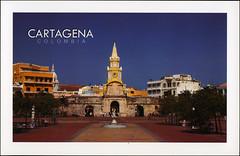 postcard - Cartagena, Colombia (Jassy-50) Tags: postcard cartagena cartagenadeindias colombia unesco worldheritage whs clocktower clock tower unescoworldheritagesite unescoworldheritage worldheritagesite