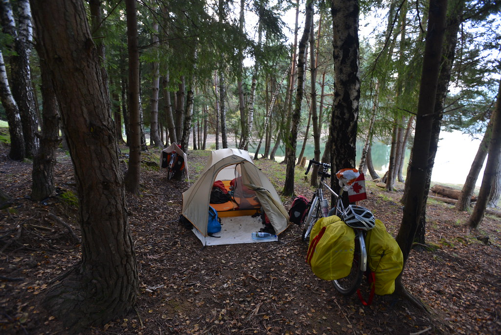 Campsite in the woods