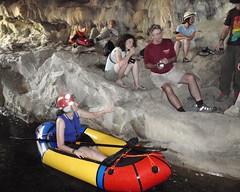 087 Preparing Some Kayak Shots (saschmitz_earthlink_net) Tags: california creek photography floating inflatable cave raft cavern naturalbridges 2014 coyotecreek calaverascounty vallecito newmeloneslake billfarr nsswesternregional davebunnell lowernaturalbridge