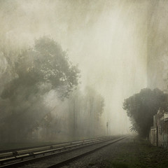 Vicente Lopez, Buenos Aires, Argentina. (Pablo A. Ferrari) Tags: trees mist painterly fog tren arboles railway ferrari textures neblina niebla texturas vias