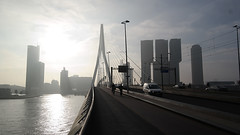 rotterdam-erasmusbridge-morning-skyline_small (Potters Ontwerpen) Tags: bridge mist haven water museum sunrise rotterdam harbour brug zonsopgang