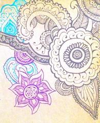 Henna (yahsgurlitsjade) Tags: blue india art pen design pretty purple drawing turquoise indian doodle draw henna hena