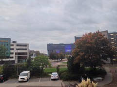 Donderdag 2 oktober 2014 (945) (gill4kleuren - 13 ml views) Tags: goodmorning good morning goede morgen goedemorgen clouds sky picture every day tree buildings work workplace shoot lente spring winter zomer summer herfst autum nederland leiden sunset rain wolken