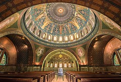 Lakewood Chapel (Doug Wallick) Tags: glass beautiful cemetery minnesota architecture unitedstates angle wide minneapolis chapel stained explore dome lakewood circular