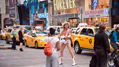Naked Cowboy (Sharkshock) Tags: plaza nyc newyork tourism naked photo nikon cowboy manhattan tourists timessquare lower nikkor bigapple tightywhities