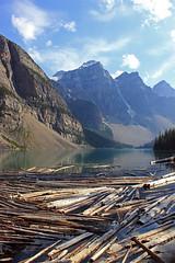 Moraine Lake (TomIrwinDigital) Tags: mountain lake canada nationalpark alberta banff moraine morainelake