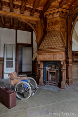 WC-39 (StussyExplores) Tags: house abandoned home hospital decay wheelchair grand explore stunning attic care exploration televisions urbex