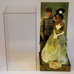 Tiana and Prince Naveen Doll Set - Disney Fairytale Designer Collection - US Disney Store Purchase - Deboxing - Attached to Backing - Next to Plastic Cover - Full Front View (drj1828) Tags: us princess prince tiana purchase disneystore naveen uncovered deboxing productinformation dollset disneyfairytaledesignercollection