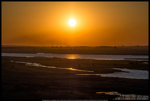 Sunset over the Chobe