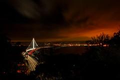008_5833: Bay Bridge (Shawn-Yang) Tags: ocean sf california bridge sky night clouds island star oakland bay berkeley san francisco long exposure treasure pacific