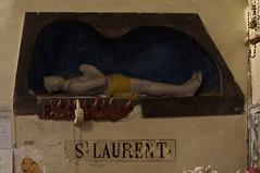 Saint Laurent  Saint-Benot (stanzebla) Tags: churches kirchen glise sculptures 15thcentury skulpturen highrelief 15jahrhundert hochrelief saintbenotdesombres basepalissy im27008244