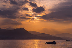 Boat (mikemikecat) Tags: sunset sea summer nature water clouds landscape hongkong scenery sony 夕陽 日落 skyblue magicmoment selfie 綺麗 wukaisha a7r 烏溪沙 sel2470z