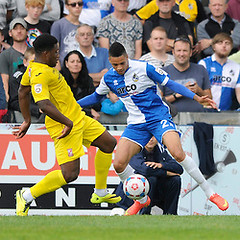 """Bristol Rovers v Woking 200914 • <a style=""""font-size:0.8em;"""" href=""""https://www.flickr.com/photos/125622569@N04/15331258122/"""" target=""""_blank"""">View on Flickr</a>"""