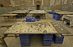 Jigsaw Puzzle, Ephesus (Mark Tindale) Tags: blue houses building history stone architecture turkey painting table ancient roman terrace lion workplace housing walls archeology fresco crates ephesus dwelling mosain