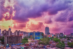 Cityscape II (Jisan) Tags: sky cloud india weather skyline buildings landscape photography cityscape dusk mumbai hdr landscapephotography architecturalelement