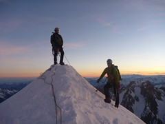 Loz and Paul on the Verte (andy.brown) Tags: winter alps climbing chamonix mont blanc massif alpinism
