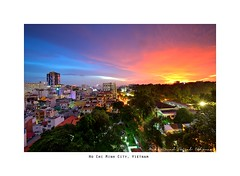 Ho Chi Minh City, Vietnam (muhammad.faisal1304) Tags: park city sunset red sky orange color building dawn nikon asia cityscape nightscape image country nation vietnam burning hcm asean d600