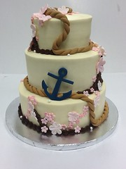 Flower and sea themed cake