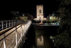 Reflejos en la noche (javipaper) Tags: nocturna puentes sanmiguel palencia