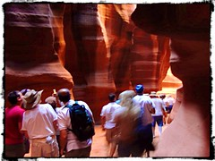 Some more images from Antelope Canyon. Check out the one which has the effect of a large bear in a sitting position...let me know if you can see it (Nigel Kane) Tags: arizona rockformations antelopecanyon