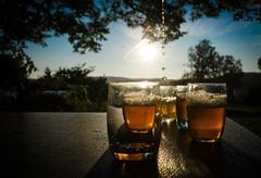Th  la menthe (francoisjouffroy) Tags: sunset sunlight de soleil coucher verres menthe mentol
