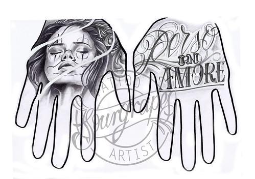 Hand Tattoo Designs Drawings