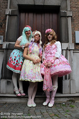 Daisy, Sofie and Stefan (House Of Secrets Incorporated) Tags: belgium belgië stefan lolita sofie daisy antwerp egl antwerpen bodyline jfashion sweetlolita angelicpretty brolita milkyplanet lolitea jfashionmeet