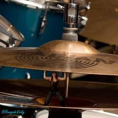 Honey, I shrunk the drummer! (Renegade_Photography) Tags: girl female photoshop drums nikon drum small hats tiny drummer hi strength kit drumming cymbals sabian cymbal cs5 d3100