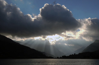Sunrise in Llanberis pass.