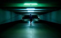 (August Wille) Tags: street blue night underground airport parking run rush