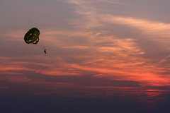 take a trip (scienceduck) Tags: sunset 15fav ontario canada beach ride paraglider lakehuron grandbend 2014 scienceduck