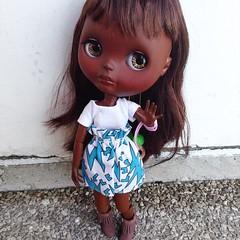 Zahara, this little girl come from the Sahel #ooakblythe  #blythecustom  #blythedoll # #eblblythe blytheebl