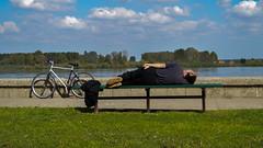 Pause :) (de la rey) Tags: river break sleep rest pause