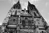 Regensburg Cathedral (Lukas the Astronaut) Tags: blackandwhite dom historical regensburg altstadt oldtown stpeter mediaeval cathdral gothicart