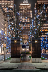 Canary Wharf , London (tony_j_lewis) Tags: canada london architecture square landscape lights nighttime wharf canary starburst d800