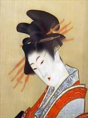 Courtisane par Hokusai (musée d'art oriental, Venise)