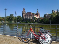 Budapest view (nicolae_andrei_popa) Tags: budapest red bike castle center holiday trip destination hungary rental sport summer ride
