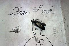 Free Love (CaledoniaEHanson) Tags: california ca house abandoned love wall farmhouse shoe graffiti farm free holes heel
