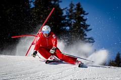 Ouvreurs de Combloux, le ski à 90° dans la neige!! (La Pom ) Tags: combloux flêche compétition descente géant moniteur ouvreur porte piste stade rodhos ski