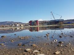 Riflessi (ziomaurits) Tags: urban zonaindustrialeesttrieste canalenavigabile rivaalvisecaldamosto rivaverrazzano mirror pozzanghera puddle