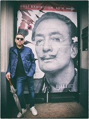 resolving the contradictory conditions of dream and reality -  a surrealist selfie (Dale Michelsohn) Tags: paris dali montmartre self selfie artist surrealist exhibition france leica