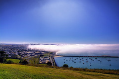 Sea Cloud (Kevin_Jeffries) Tags: sea cloud fog kevinjeffries nikon nikkor town oamaru newzealand township coastal coast seafront port blue light weather bay nature bright water beach white d7100