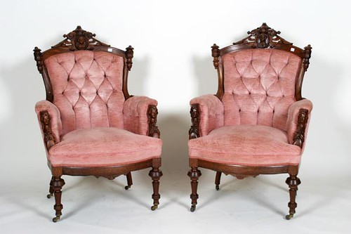 Victorian Rosewood Sofa & 2 Chairs with Jenny Lynn Head Back & Arms ($532.00)