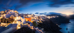 Oia's Early Sunrise (hpd-fotografy) Tags: aegean europe greece hellas oia santorini sunrise bluehour caldera landscape light outdoor panorama sea seascape sky travel volcano water wideangle