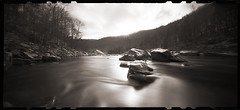 Daybreak - Cheat River Narrows (DRCPhoto) Tags: zeroimage612b pinhole lenslessphotography film mediumformat cheatriver westvirginia